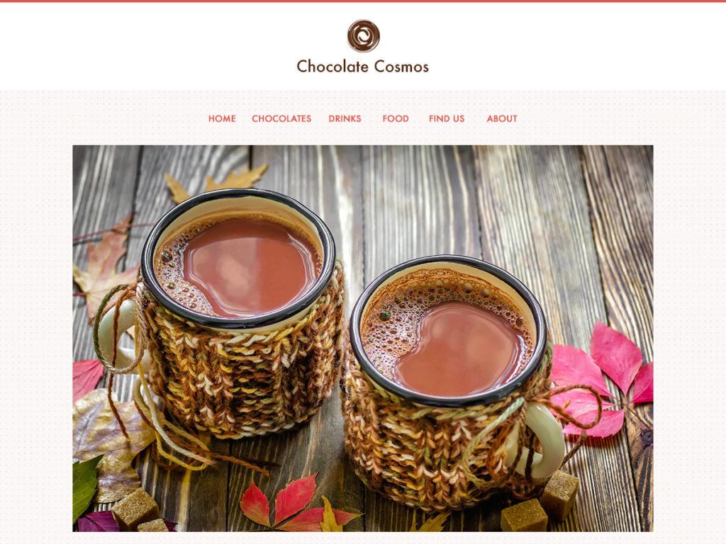 Szablon graficzny dostępny w pakiecie Kreator Start - Chocolate Cosmos