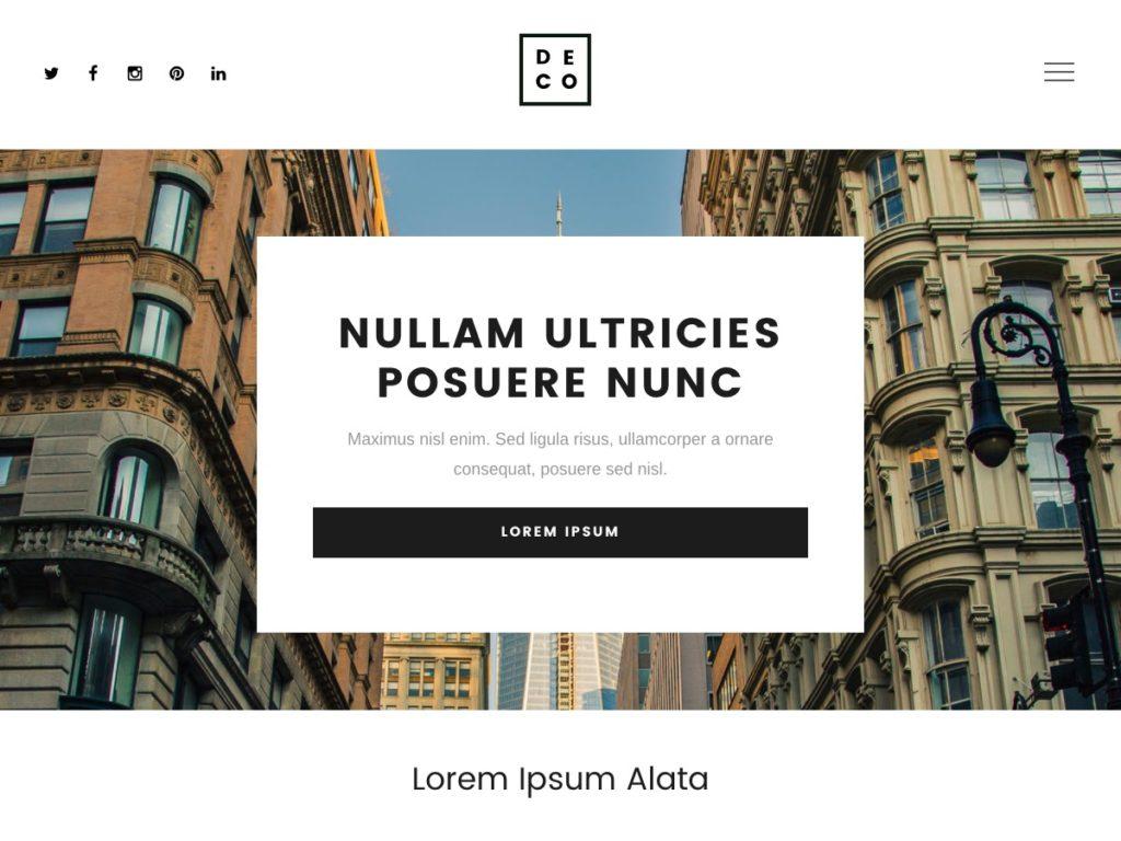 Szablon graficzny dostępny w pakiecie Click Web Premium - Deco