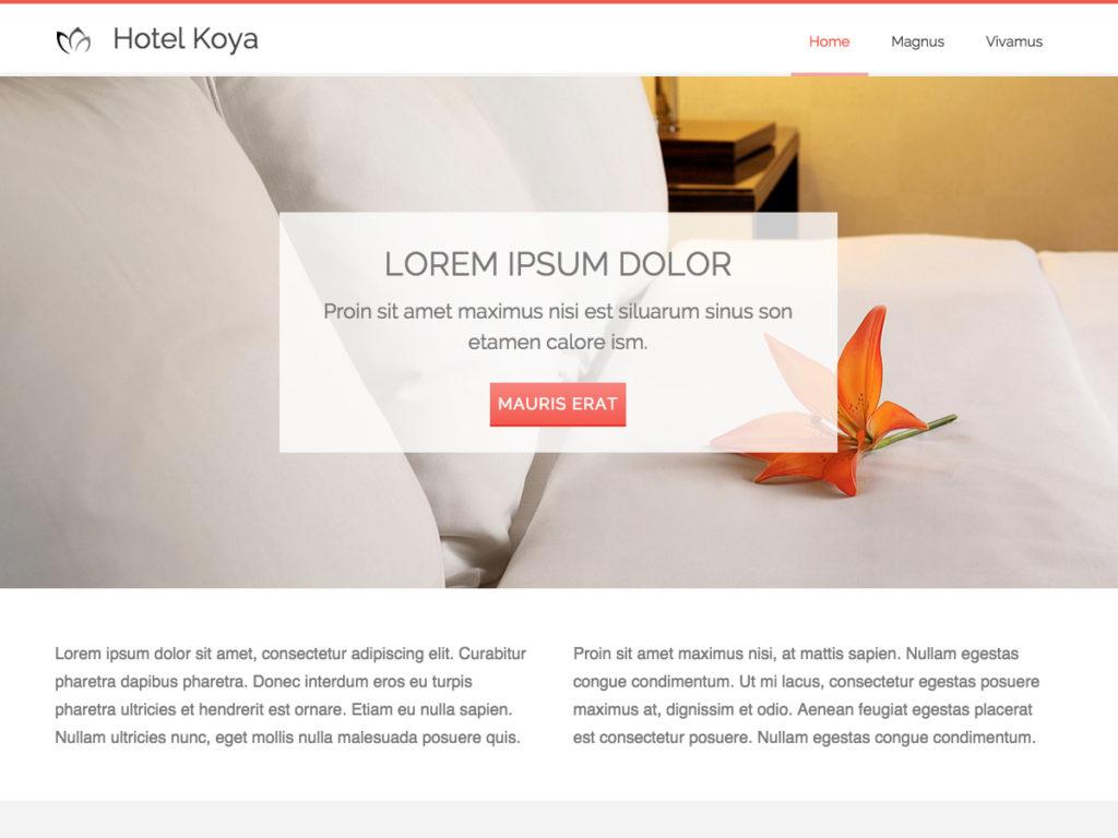 Szablon graficzny dostępny w pakiecie Kreator Start - Hotel Koya