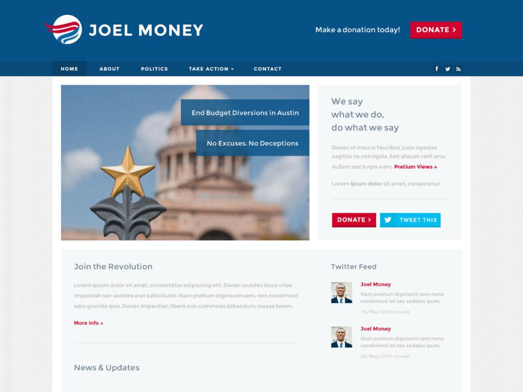 Szablon graficzny dostępny w pakiecie Click Web Premium - Joel Money