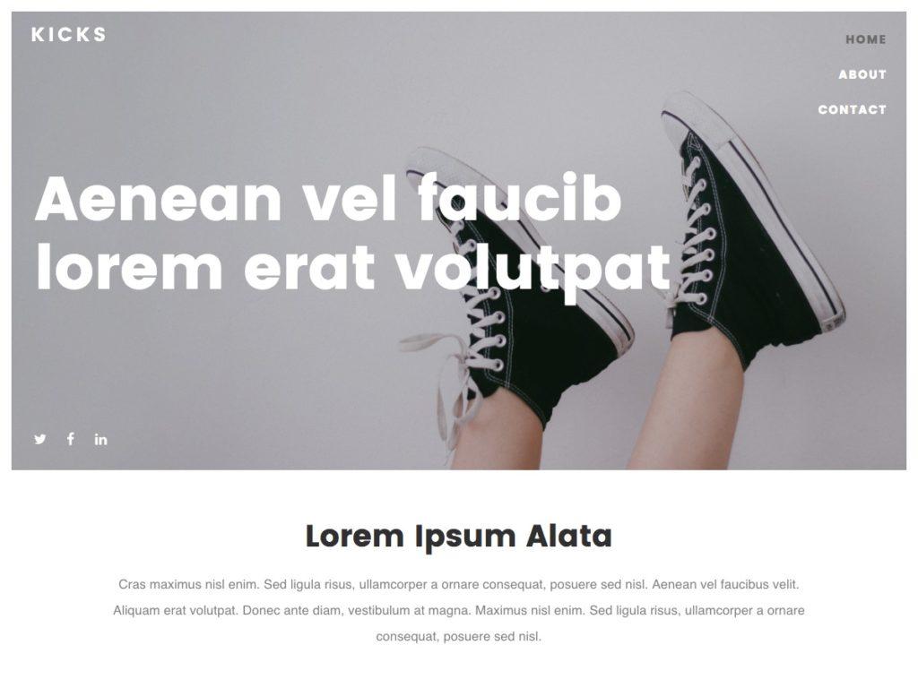 Szablon graficzny dostępny w pakiecie Click Web Premium - Kicks