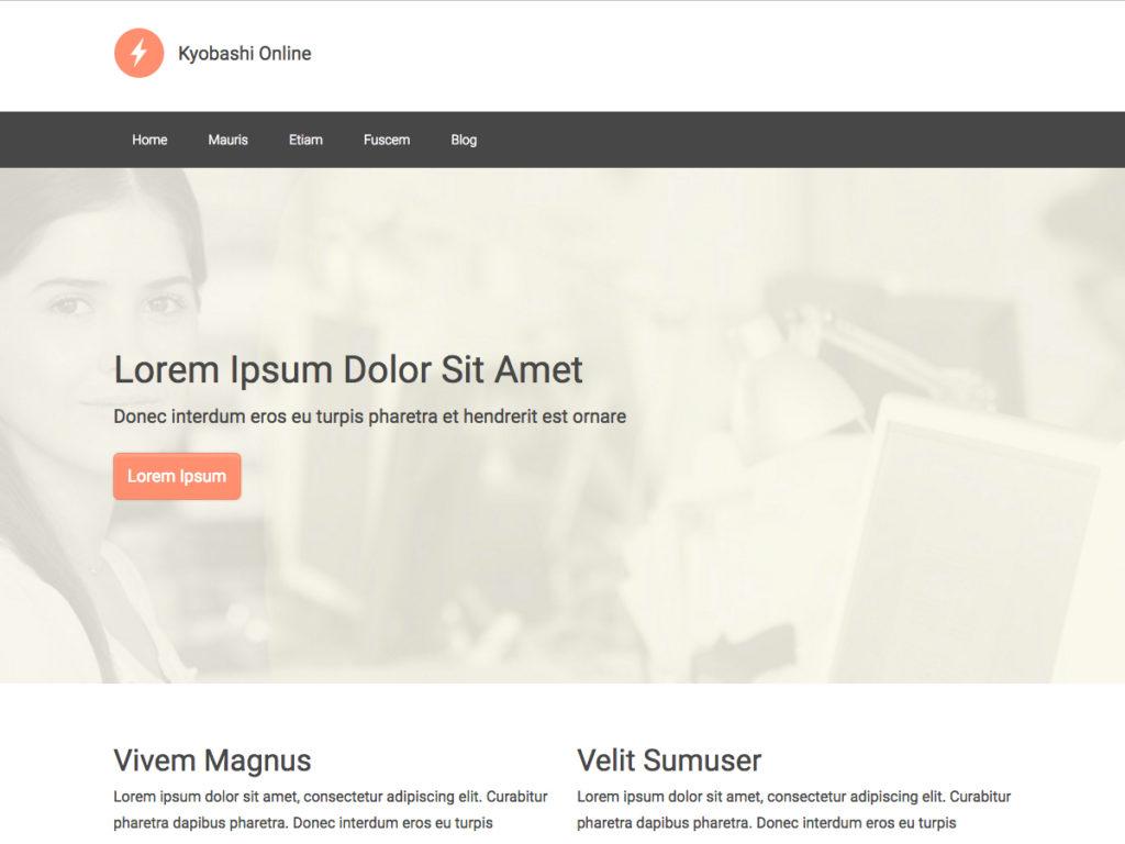 Szablon graficzny dostępny w pakiecie Click Web Premium - Kyobashi Online