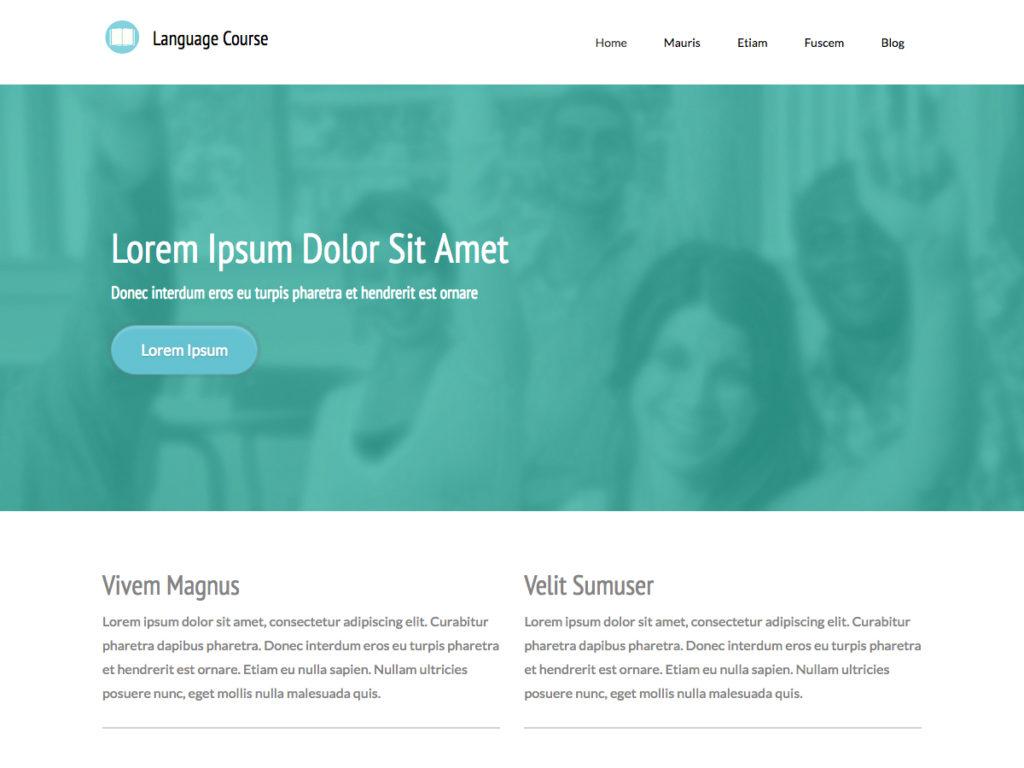 Szablon graficzny dostępny w pakiecie Kreator Start - Language Course