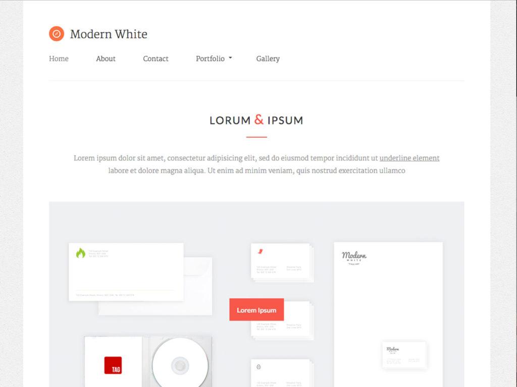 Szablon graficzny dostępny w pakiecie Kreator Start - Modern White