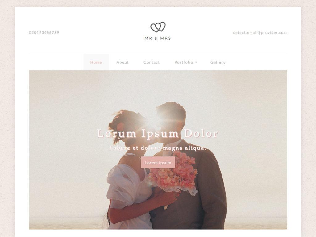 Szablon graficzny dostępny w pakiecie Kreator Start - Mr and Mrs