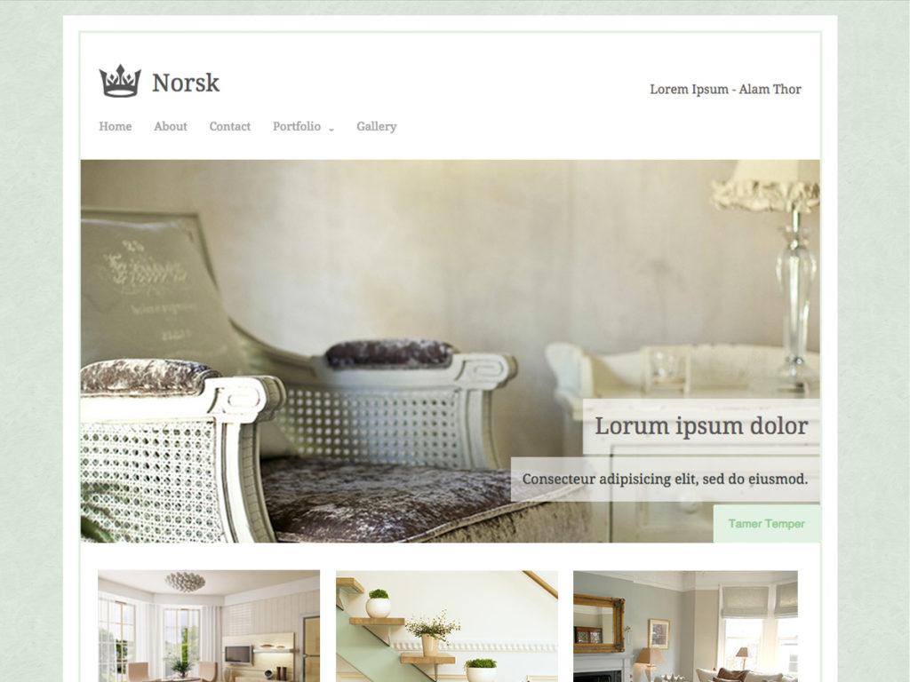 Szablon graficzny dostępny w pakiecie Kreator Start - Norsk