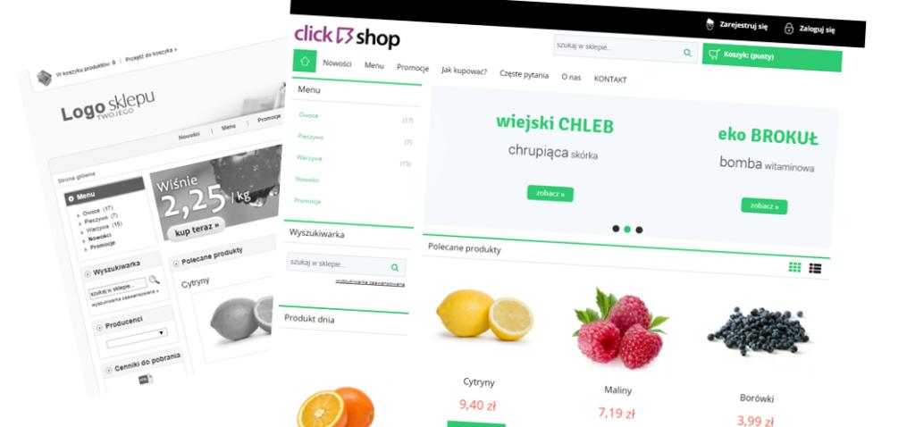 eSklep - Przykładowy widok responsywnej sklepu internetowego