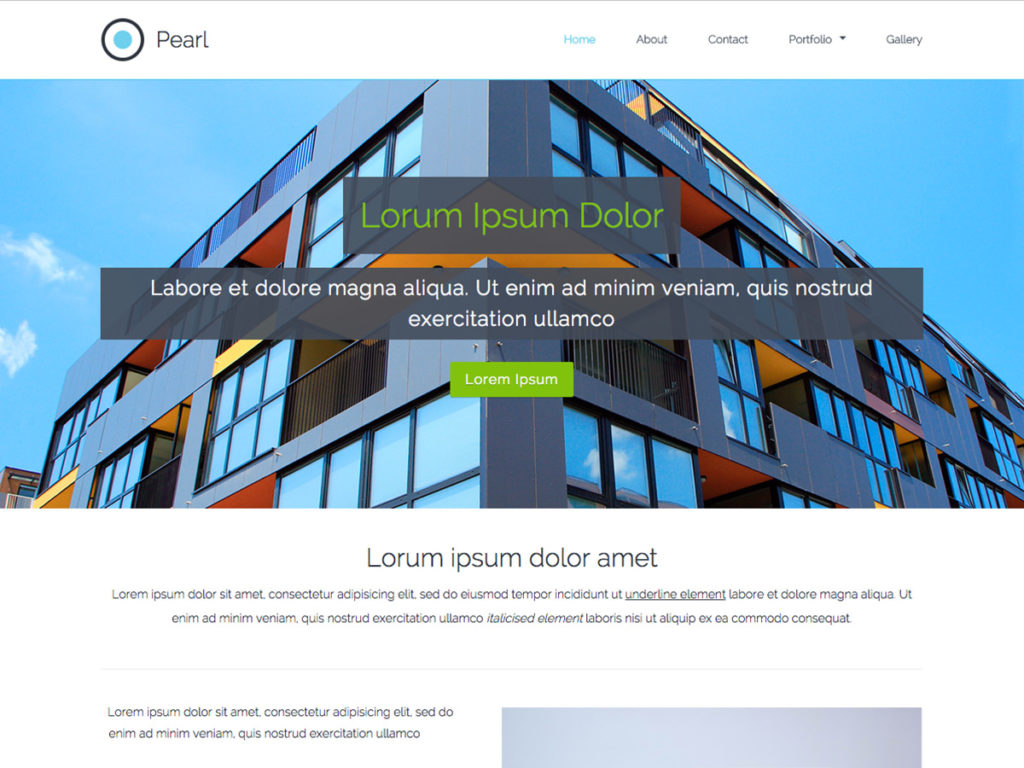 Szablon graficzny dostępny w pakiecie Kreator Start - Pearl