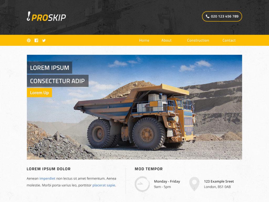 Szablon graficzny dostępny w pakiecie Click Web Premium - Proskip