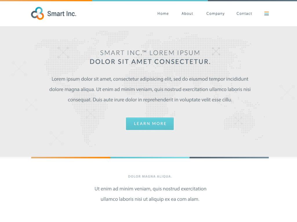 Szablon graficzny dostępny w pakiecie Kreator Start - Smart Inc