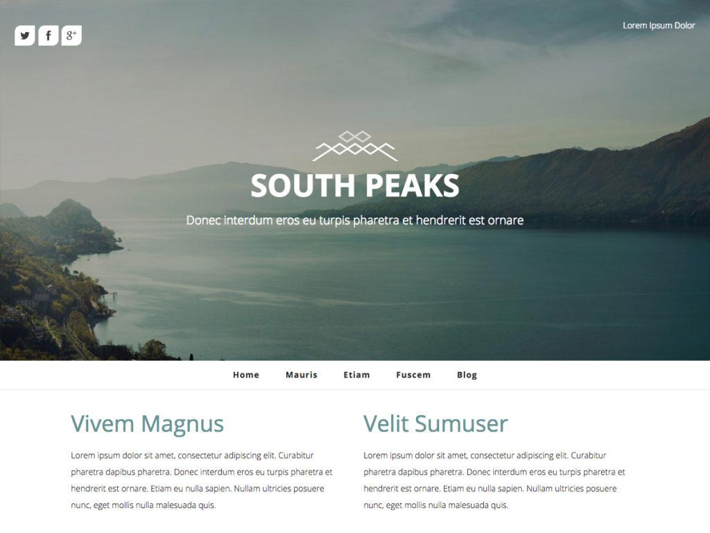 Szablon graficzny dostępny w pakiecie Kreator Start - South Peaks