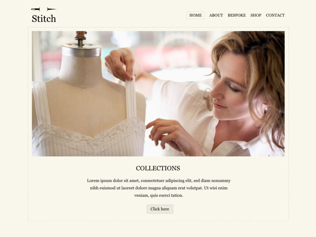 Szablon graficzny dostępny w pakiecie Click Web Premium - Stitch