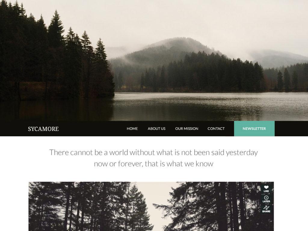 Szablon graficzny dostępny w pakiecie Click Web Premium - Sycamore