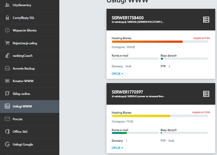 Panel Klienta - Ustawienia domeny - Jak przejść do tworzenia listy mailingowej na serwerze w home.pl?