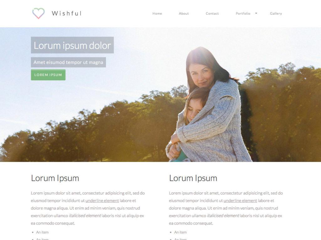 Szablon graficzny dostępny w pakiecie Click Web Premium - Wishful