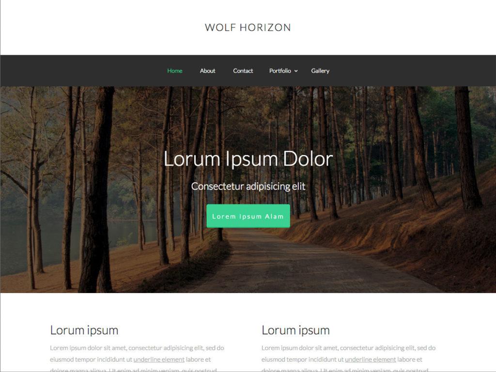 Szablon graficzny dostępny w pakiecie Kreator Start - Wolf Horizon