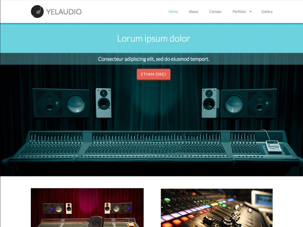 Szablon graficzny dostępny w pakiecie Click Web Premium - Yelaudio