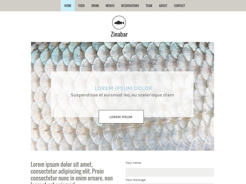 Szablon graficzny dostępny w pakiecie Click Web Premium - Zinabar