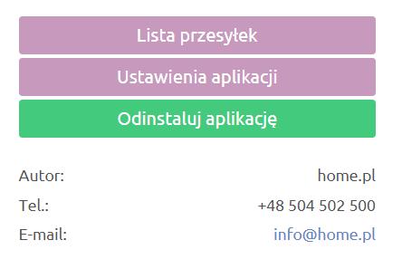 eSklep - Aplikacje - Moje Aplikacje - Przewoźnik DHL - Kliknij przycisk Lista przesyłek