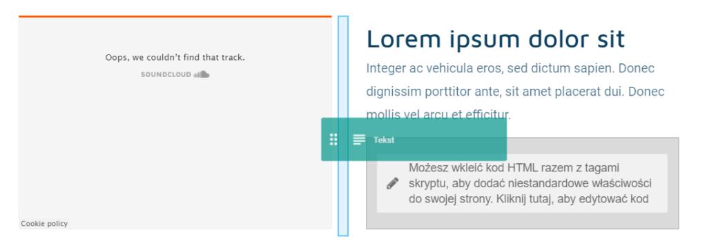 Dodawanie modułu między inne elementy strony WWW