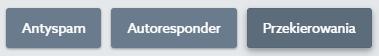Panel klienta home.pl - Poczta - Skrzynki e-mail - Kliknij przycisk Przekierowania