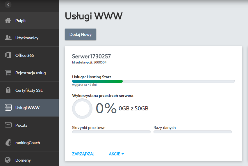 Jak zmienić ustawienia głównej skrzynki pocztowej na hostingu?