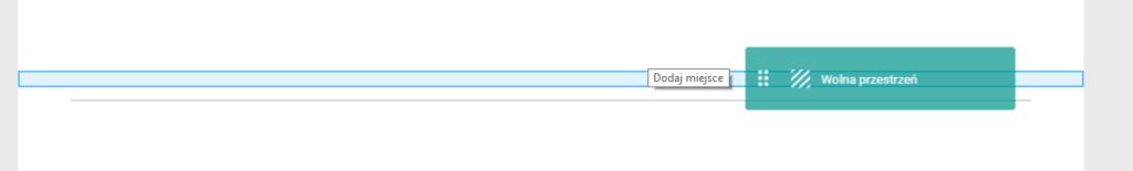 Wstaw moduł wolnej przestrzeni na stronie WWW
