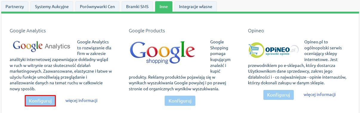 Rozszerzona integracja z Google Analytics – Enhanced Ecommerce
