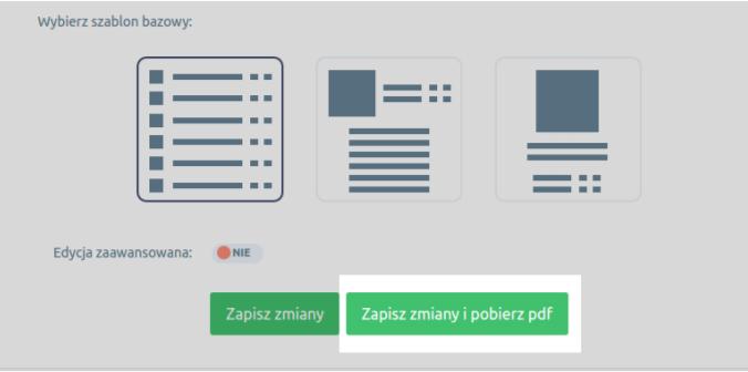 eSklep - Asortyment - Produkty - Aplikacje - Dodaj do oferty PDF - Bieżąca oferta - Kliknij przycisk Zapisz zmiany i pobierz PDF