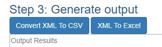 XML To CSV Converter - Step 3 Generate output - Wybierz przycisk Convert XML to CSV