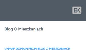 Odłącz domenę od kreatora stron WWW