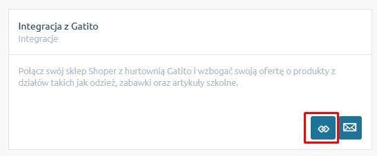 eSklep - Aplikacje - Moje aplikacje - Integracja z Gatito - Kliknij w ikonę konfiguracji