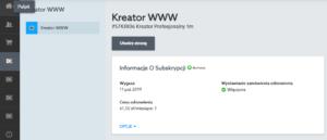 Tworzenie nowej strony WWW w kreatorze