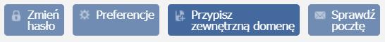 Panel klienta home.pl - Usługi - Nazwa serwera - Konfiguracja usługi - Kliknij przycisk Przypisz domenę zewnętrzną