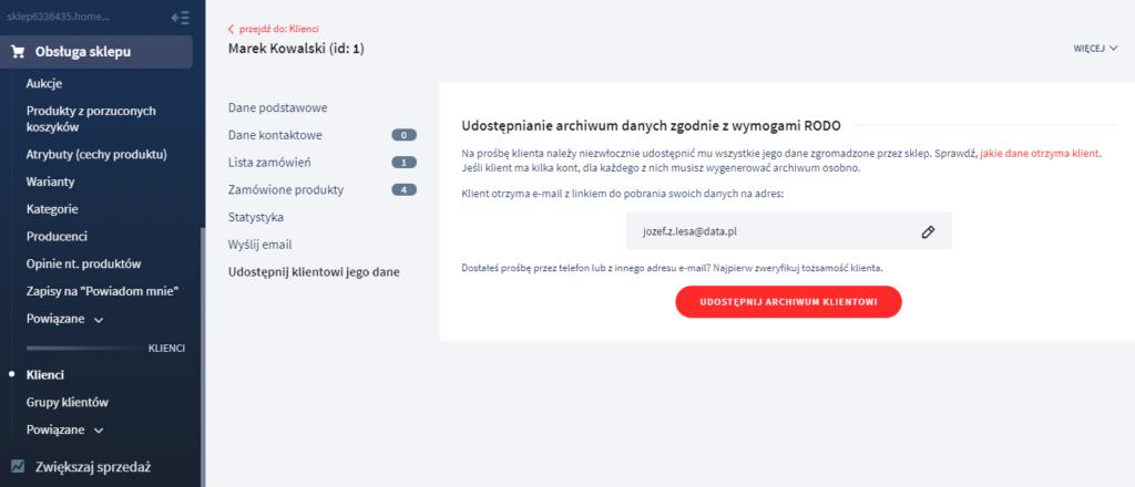 RODO – udostępnianie archiwum danych zgodnie z wymogami RODO