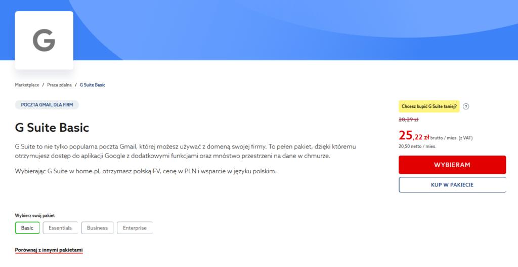 Czym jest pakiet G Suite – poczta Gmail dla firm?