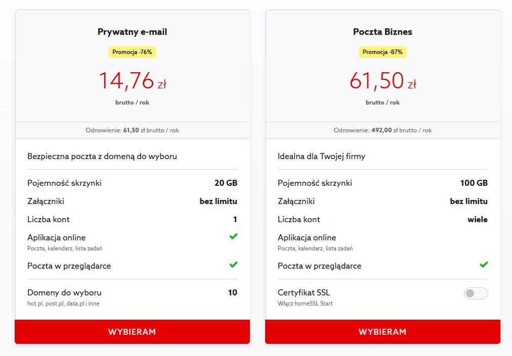 Jak zamówić skrzynkę e-mail w home.pl?