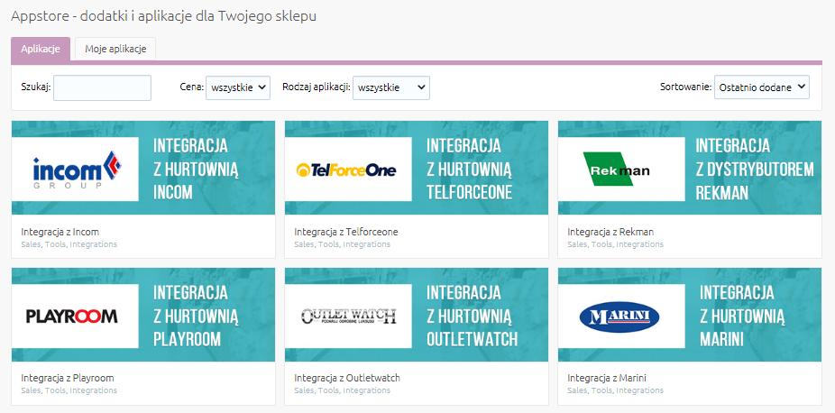 Jak rozpocząć pracę z aplikacjami korzystającymi z integracji Inteshop?