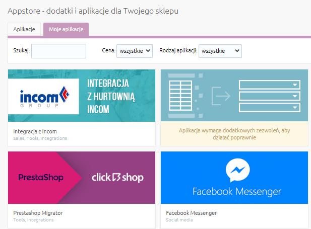 eSklep - Aplikacje - Moje aplikacje - Znajdź zakupioną aplikację