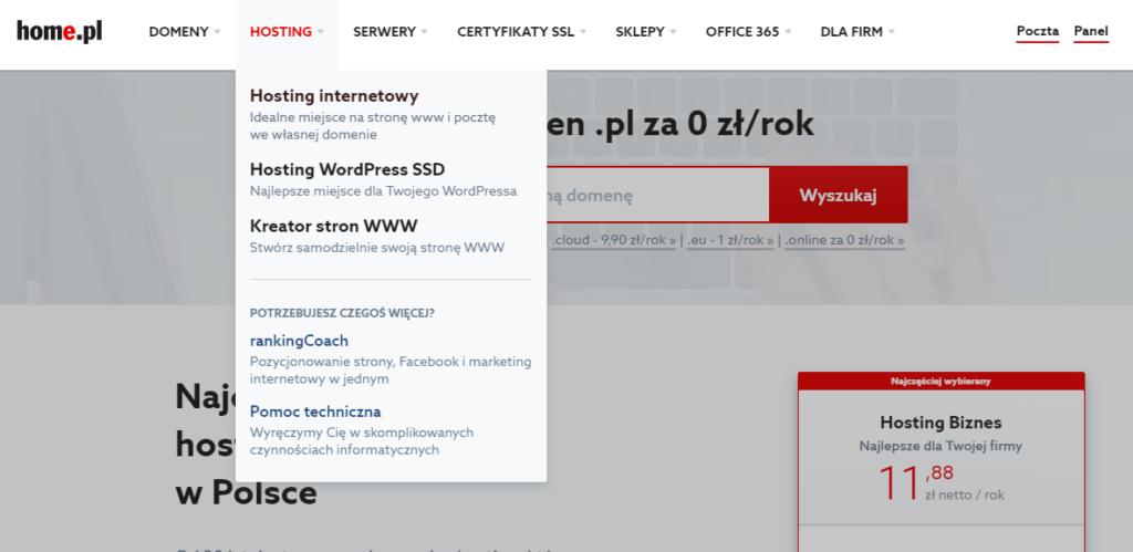 Rejestracja i opłacenie usługi kreatora stron WWW Click Web
