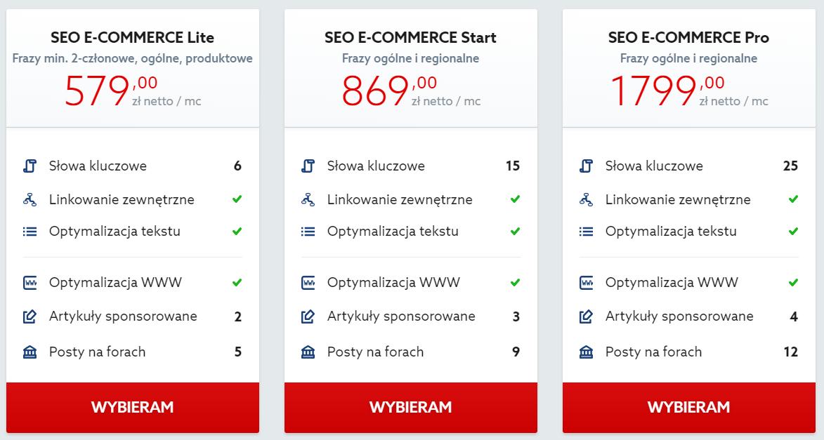Home.pl - Reklama internetowa - Pozycjonowanie - Sklepy - Oferta - Wybierz pakiet pozycjonowania dla swojego sklepu