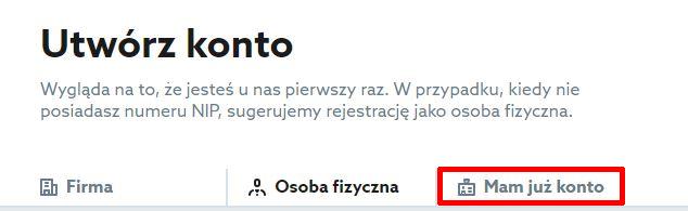 Home.pl - Menu - Oferta - Wybieram - Przechodzę do koszyka - Zamów - Identyfikacja klienta - Utwórz konto - Kliknij zakładkę Mam już konto