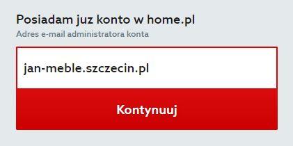 Home.pl - Menu - Oferta - Wybieram - Przechodzę do koszyka - Zamów - Identyfikacja klienta - Przykładowa wpisana nazwa konta