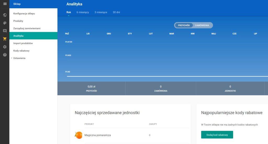 Click Web - Sklep - Analityka - Przeprowadź podstawową analizę prowadzonej sprzedaży