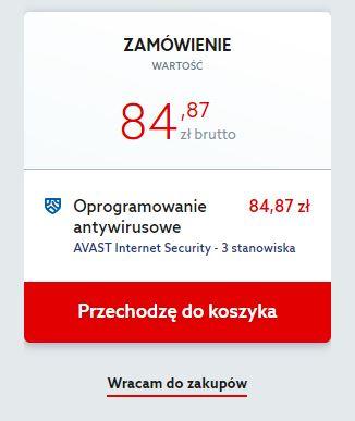 Home.pl - Marketplace - Avast Internet Security - Zamówienie - Wróć do zakupów aby dodać więcej licencji