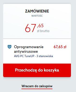 Home.pl - Marketplace - AVG PC TuneUp - Zamówienie - Jeśli chcesz dodać więcej stanowisk kliknij przycisk Wracam do zakupów