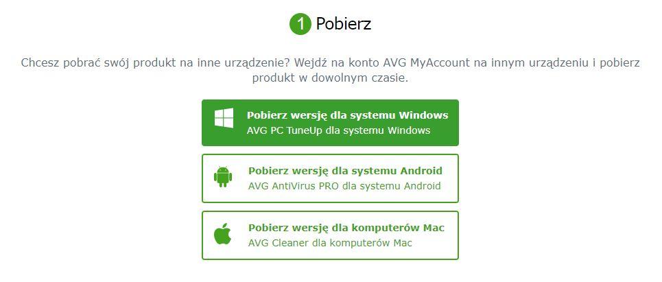 AVG - Rejestracja - Instalacja AVG ZEN - Aktywacja produktu - Utwórz konto AVG MyAccount - Pobierz wersję dla systemu Windows