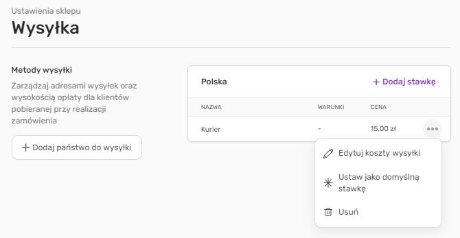 Jak dodać nową formę dostawy w sklepie Kreatora WWW?