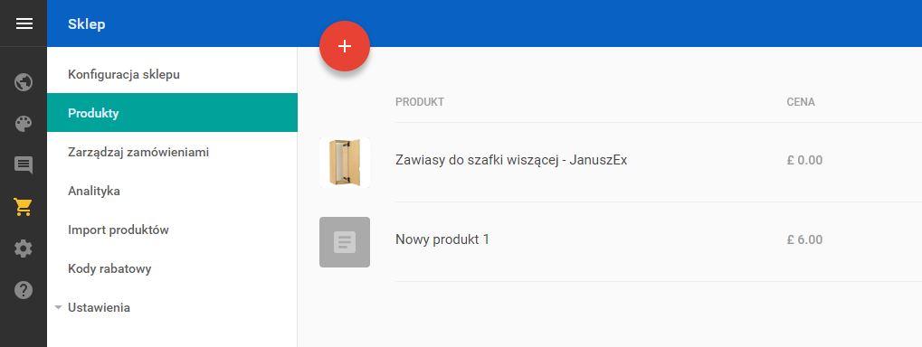 Kreator WWW - Sklep - Przejdź do sekcji Produkty