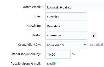 eSklep - Marketing - Rabaty - Rabaty indywidualne - Skonfiguruj rabat